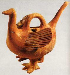 Hittite, three-legged duck cup, Beycesultan, 1800 or 1700 BC, Museum of Anatolian Civilisations, Ankara