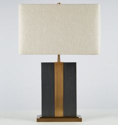 Monolithic Table Lamp, 60W max, 2 sockets; for console behind sofa