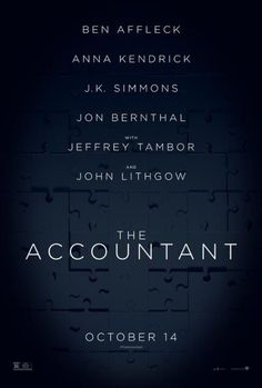 Watch the The Accountant movie trailer. Directed by Gavin O'Connor and starring Ben Affleck, Anna Kendrick, Jon Bernthal and Alison Wright. A forensic accountant un-cooks the books for illicit clients. New Movies, Good Movies, Movies Online, 2016 Movies, Foreign Movies, Jon Bernthal, Anna Kendrick, Ben Affleck, The Accountant Movie