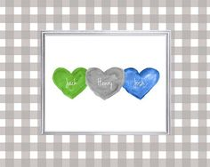 Brothers Wall Art Triplets Gift Baby Boy by OutsideInArtStudio