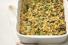 Vegetable and Stuffing Bake recipe - made this on the weekend but used mixed frozen veggies instead of just broccoli.oh my it was delish :) Vegetarian Main Dishes, Vegetable Side Dishes, Side Dishes Easy, Side Dish Recipes, Veggie Recipes, Baking Recipes, Cooking On The Grill, What's Cooking, Broccoli Bake