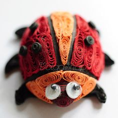 Quilled Beetle  Paper Quilling Animal  Finished by volgashop, $8.90