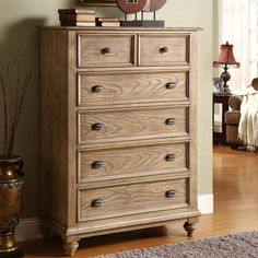 Riverside Coventry 5 Drawer Chest - Weathered Driftwood - 32465