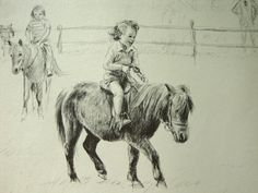 C. W. Anderson Illustration-A Pony for Linda- Nursery Art-Childrens Decor-Kids Wall Art via Etsy