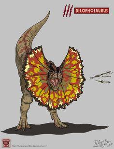 Jurassic Park: Dilophosaurus by JurassicWorldFan
