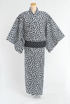 a0f0e5f08cf Men's cotton Yukata (casual cotton kimono) and Kaku Obi (belt), hand  printed using traditional Japanese technique - Shop at Eley Kishimoto for  our latest ...