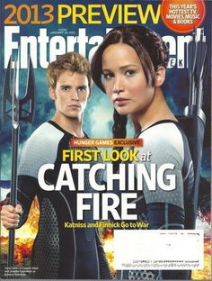 Catching Fire Entertainment Weekly Jan 2013 Jennifer Lawrence Sam Claflin Hunger