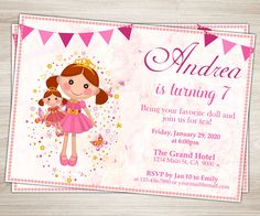 Hey, I found this really awesome Etsy listing at https://www.etsy.com/listing/263544682/doll-birthday-party-invitation-dolly-and