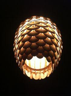 ply wood pine cone light Jonas Lonborg