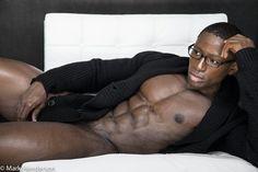 Sexy black men making love