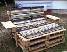 Tip of the day: Those unsightly pallets leaning against your garage needn't be an eyesore any longer. With a few well-placed nails, and a quick covert op to your neighbor's patio chair set, you'll be ready to sit and drink beer in style.