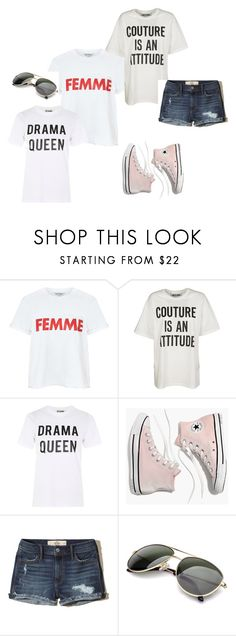 """""""Untitled #25"""" by ivananna on Polyvore featuring Miss Selfridge, Moschino, Love, Madewell and Hollister Co."""