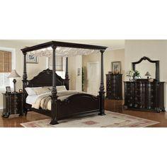 Jensen Deep Merlot 5-piece Canopy Bedroom Set | Overstock.com Shopping - Big Discounts on Bedroom Sets