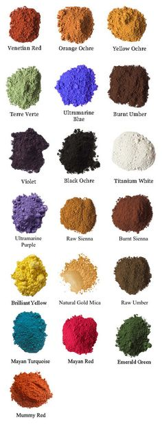 ce39c9f2de Our radiant Natural Earth pigments in individual 3 oz. packets. Each packet  makes the