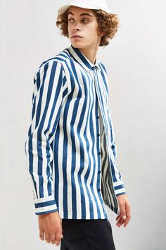 Publish Alpha Striped Denim Over Shirt - Urban Outfitters