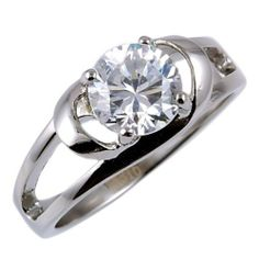 Womens Stainless Steel 1.6c Russian Ice Diamond CZ Infinite Love Cross-over Promise Friendship Ring (sizes 5 to 10) 1000 Jewels. $18.00. Ring weighs approx. 3.8 grams.. Features a 7.5mm, 1.6 carat Ideal Brilliant-cut Russian Ice on Fire Diamond CZ Solitaire.. Made with solid 316 Surgical Stainless Steel. 100% lead and nickel free.. Stylish, Contemporary & Popular Womens Promise - Friendship Ring. Available in US sizes 5 through 10!