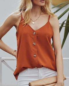 Get more OFF ALL 2 tops orange burnt tank tops button up flowy shirts sleeveless tank top v neck sleeveless t shirt going out loose fitting tank tops Skirt And Top Outfit, Tank Top Outfits, Plus Size Christmas Tops, High Neck Saree Blouse, Flowy Shirts, Flowy Tops, Loose Fitting Tank Tops, Blouses For Women, Fashion Outfits