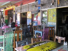 Visited Mamma's Shebeen during my trip to S. Back in the day shebeens were illegal bars. Mamma's is situated in the Johannesburg suburb of Greenside - not your typical township type of area. This makes Mammas Shebeen Restaurant so unique and appealing.