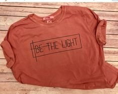 ON SALE Be The Light / Womens Christian Graphic Tee Christian Shirts Christian T Shirts gift for her Faith TShirts Christian T Shirt - Graphic Shirts - Ideas of Graphic Shirts - ENDS AT Sale-Be The Light// by TradedCrownsBoutique Jesus Shirts, Christian Clothing, Christian Shirts, T-shirts Graphiques, Cross Shirts, Travel Shirts, T Shirt Yarn, Graphic Shirts, Cute Graphic Tees