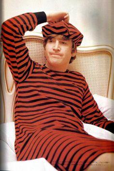 John-very unflattering sleeping attire, I must say...