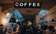 top coffee shops in nyc best cafes new york city Garage Extension, Directional Signage, Wayfinding Signs, Espresso Machine, Cafe New York, Coffee Shop Business, Barcelona, Automatic Coffee Machine, Design Typography