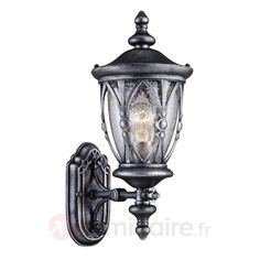 Applique Rua Augusta avec lanterne vers le haut | Luminaire.fr Outdoor Flush Mounts, Outdoor Wall Lantern, Outdoor Wall Sconce, Outdoor Walls, Dar Lighting, Shop Lighting, Outdoor Lighting, Pendant Lighting, Wall Lights