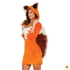 Kostüm Fuchs, Kleid für Damen zu Fasching und Mottoparty