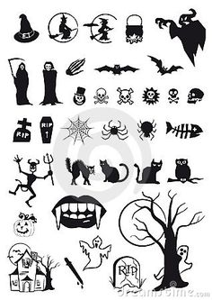Halloween Symbols, Halloween Templates, Halloween Fonts, Halloween Doodle, Halloween Drawings, Halloween Crafts, Kitten Cake, Secret Tattoo, Homemade Halloween Decorations
