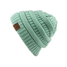 Women's Riverberry Chunky Cable Knit Beanie (42 BRL) ❤ liked on Polyvore featuring tops, green, slouchy tops, green top, unisex tops and short tops