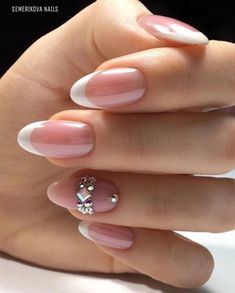 58 elegante Hochzeit Nail Art Designs - - Best Picture For wedding nails for bride maroon For Your Taste You are looking for something, and it is going to tell French Nails, Fun French Manicure, French Manicures, Cute Nails, Pretty Nails, Hair And Nails, My Nails, Wedding Nails Design, Nail Wedding