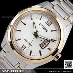 CITIZEN Eco-Drive Sapphire Two Tone Rose Gold Mens Watch AW1104-55A 02004f6afcd7
