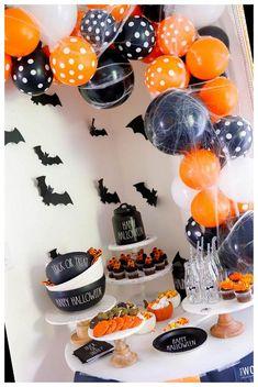 #Halloween #Orange #Black #Party #Idea spooky halloween party ideas Orange and Black Halloween Party Idea
