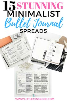 15 absolutely stunni 15 absolutely stunning minimalist bullet journal spreads to provide you with plenty of inspiration for your bujo Bullet Journal For Beginners, Bullet Journal Tracker, Bullet Journal How To Start A, Bullet Journal Junkies, Bullet Journal Spread, Bullet Journals, Bujo, Minimalist Bullet Journal Layout, Journal Inspiration