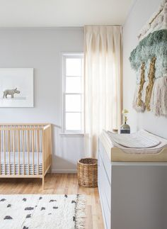 simple and bright modern nursery