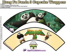 Cupcake Wrappers - Kung Fu Panda 3 Free Party Printables   SKGaleana
