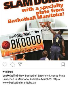 DON'T drink n drive to the basket.. DO get a specialty licence plate from @basketballmb available March 20! #wpgsgotsole #hoopdreams #ballislife #basketballforlife #winnipeg