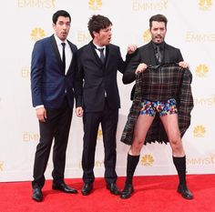 Whoa, @mrsilverscott went with the Scottish look for the 2014 #Emmys!