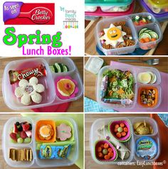 This takes you to a facebook page with all sorts of lunch box ideas . . . spring, rainbow, baseball . . .
