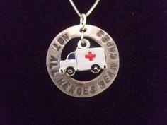 Paramedic Hero Necklace, Paramedic Necklace, Hero Necklace, Ambulance Necklace on Etsy, $35.00