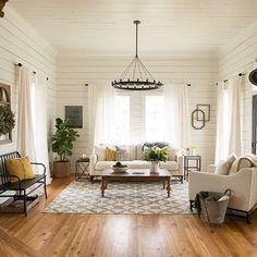 37 cozy farmhouse living room makeover decor ideas