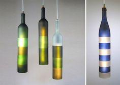 Iluminación con botellas recicladas