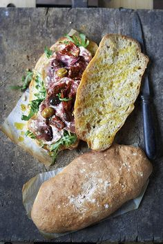 Making ciabatta is a real test of a baker's skill. It is made in stages, starting with a biga, or 'saved dough', that is slowly fermented to add flavour and liveliness to the soft dough