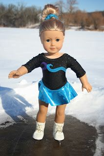 Free pattern and tutorial for a Ice-Skating outfit for American Girl Doll