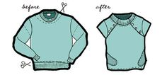 sweatshirt_before & after by compaiprojects, via Flickr