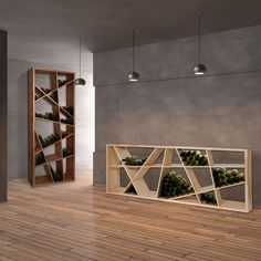 Weinregal ODIN - nicht nur für den Weinkeller überall einsetzbar aus Eichenholz massiv. Neben 0,75l Weinflaschen auch für Magnum geeinet. (Furniture Designs Storage)