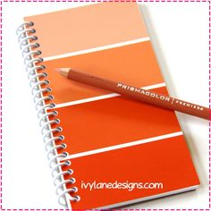 PAINT CHIP NOTEBOOK / Recycled Upcycled Journal  by ivylanedesigns, $6.00