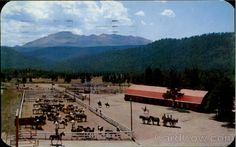 Woodland Park, CO - The old Paradise Guest Ranch barns and corrals on the south side of Hwy 24