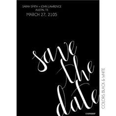 Simple Calligraphy Save the Date // No Photo // by KateOGroup, $15.00