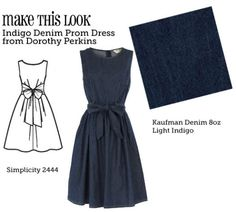 (via MTL: Indigo Denim Prom Dress - The Sew Weekly Sewing Blog & Vintage Fashion Community)