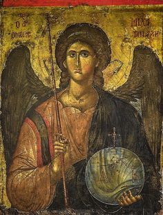 Byzantine Icon with the Archangel Michael (early 14th century) at National…